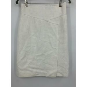Nanette Lepore skirt 2 linen blend white business